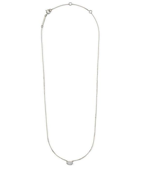 ケンドラスコット レディース ネックレス・チョーカー アクセサリー Marisa Pendant Necklace In White Diamond And 14k Gold 14k White Gold