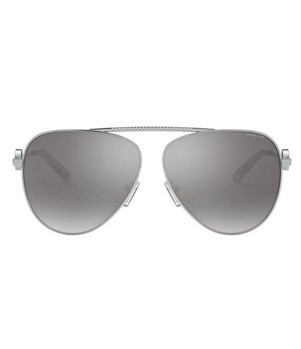 マイケルコース レディース サングラス・アイウェア アクセサリー Salina 59mm Sunglasses Silver