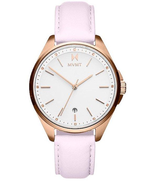 エムブイエムティー レディース 腕時計 アクセサリー Coronada Rose Leather Watch Pink