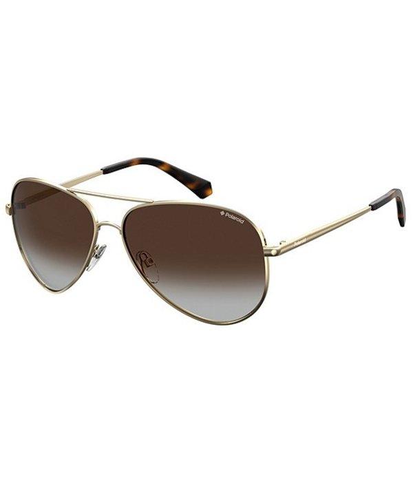 ポラロイド レディース サングラス・アイウェア アクセサリー Polarized Aviator Sunglasses Gold