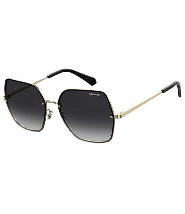 ポラロイド レディース サングラス・アイウェア アクセサリー Polarized Square Sunglasses Gold