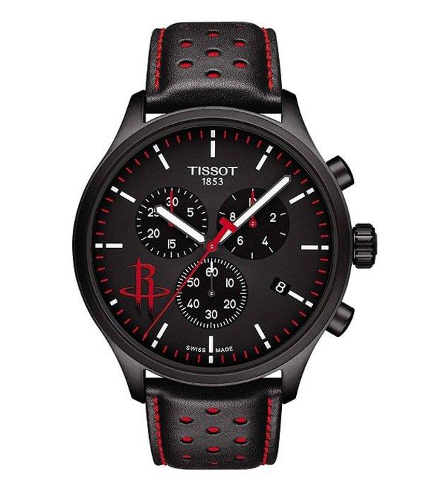 ティソット メンズ 腕時計 アクセサリー Chronograph XL NBA Team Houston Rockets Special Edition Watch Black