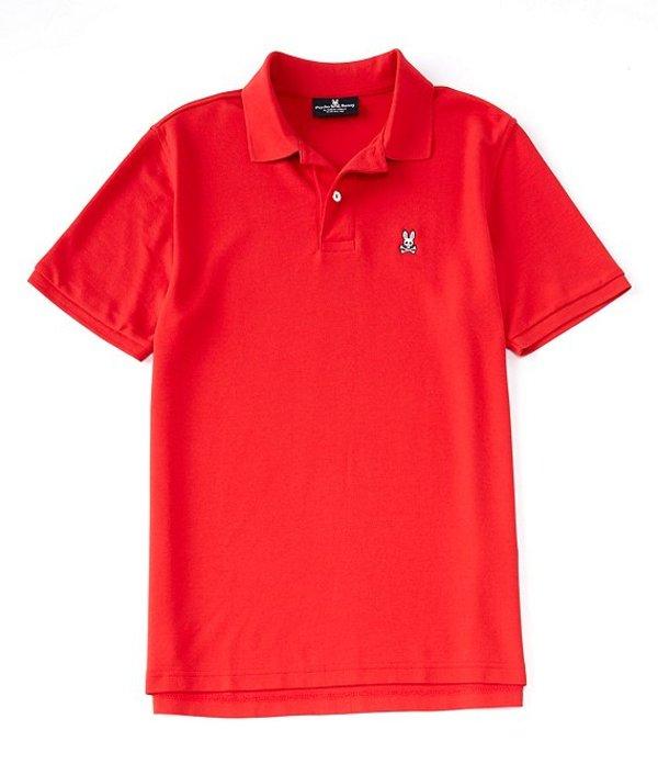 サイコバニー メンズ シャツ トップス Classic Short-Sleeve Solid Polo Shirt Brilliant Red