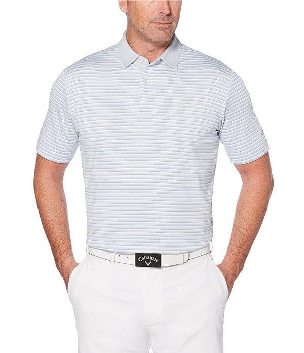 キャラウェイ メンズ シャツ トップス Short-Sleeve Cooling Tonal 3-Striped Polo Bright White