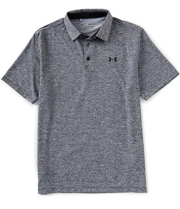 アンダーアーマー メンズ シャツ トップス Golf HeatGearR Short-Sleeve Loose Playoff Polo 2.0 002 Black/Black/Black