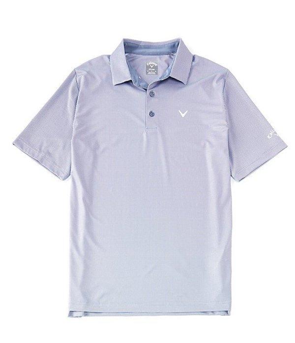 キャラウェイ メンズ シャツ トップス Golf Short-Sleeve Gingham Polo Flint Stone