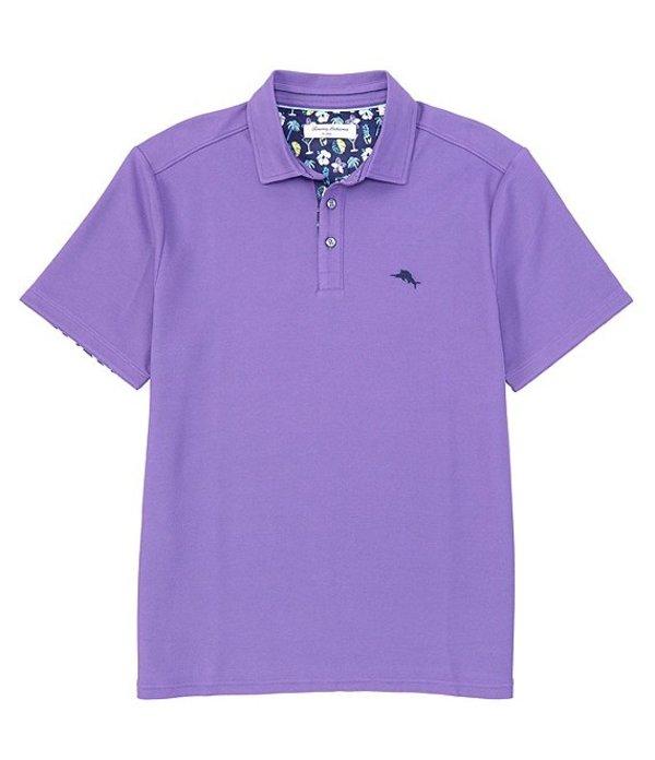 トッミーバハマ メンズ シャツ トップス Five O'Clock Fiesta Short Sleeve Polo Shirt Spring Purple