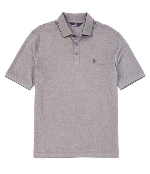 ハート シャフナー マルクス メンズ シャツ トップス Short Sleeve Rib Two Tone Pique Polo Charcoal