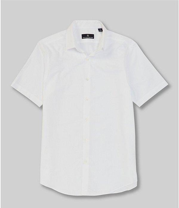 ハート シャフナー マルクス メンズ シャツ トップス Short Sleeve Cinder Block Sportshirt White