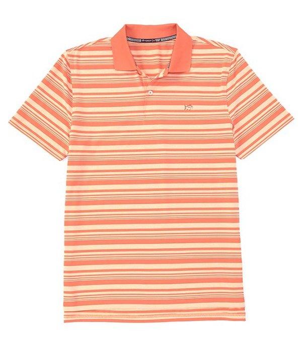 サウザーンタイド メンズ シャツ トップス Driver Heather Stripe Performance Stretch Short-Sleeve Polo Shirt Mango