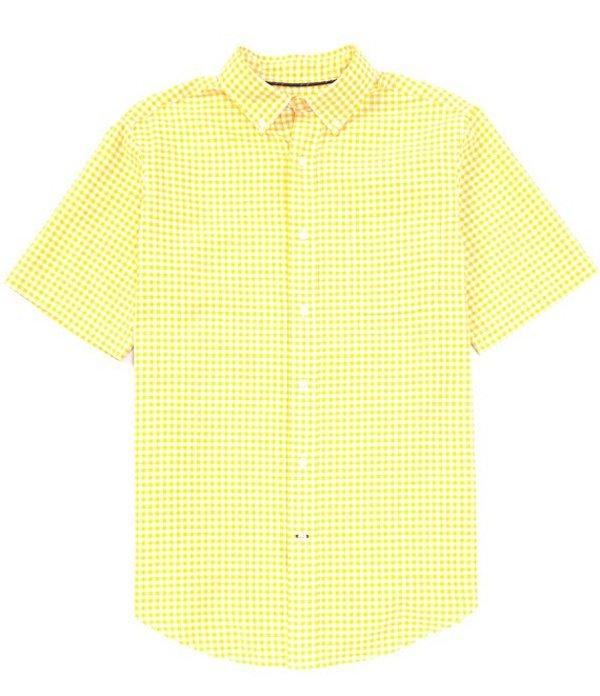 ダニエル クレミュ メンズ シャツ トップス Short-Sleeve Check Oxford Woven Shirt Ludlow Yellow