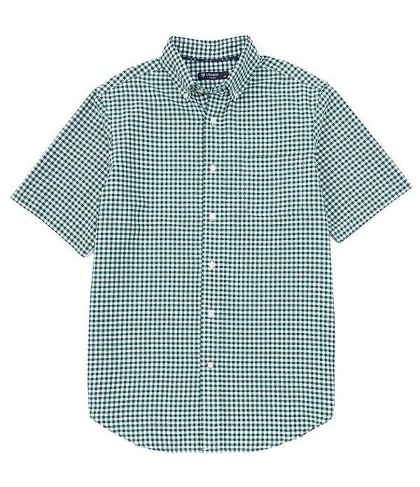ダニエル クレミュ メンズ シャツ トップス Short-Sleeve Check Oxford Woven Shirt Rain Forest
