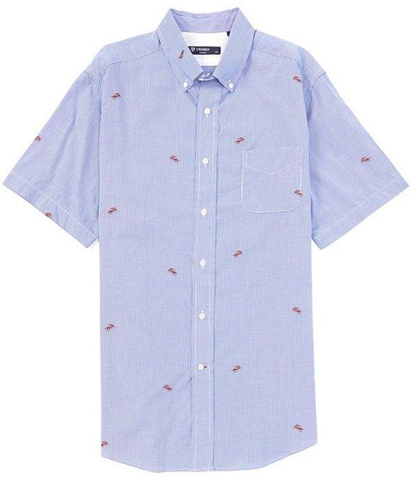 ダニエル クレミュ メンズ シャツ トップス Dobby Clip Car Short-Sleeve Woven Shirt Sky