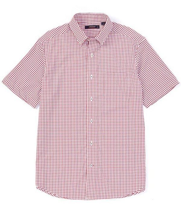 ダニエル クレミュ メンズ シャツ トップス Mini-Check Performance Short-Sleeve Woven Shirt Lollipop