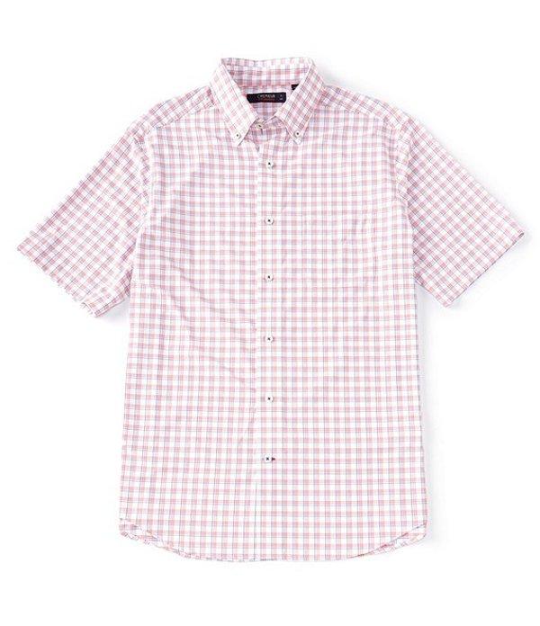 ダニエル クレミュ メンズ シャツ トップス Performance Twill Plaid Short-Sleeve Woven Shirt Lollipop