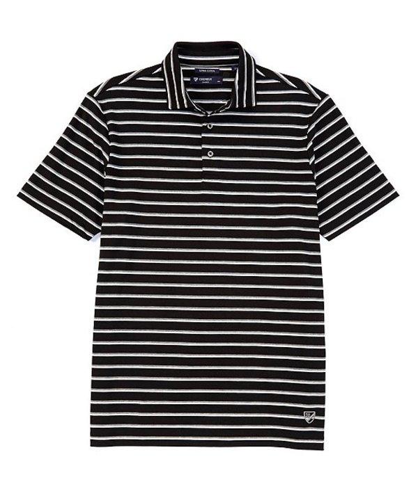 ダニエル クレミュ メンズ シャツ トップス Stripe Short-Sleeve Polo Shirt Black