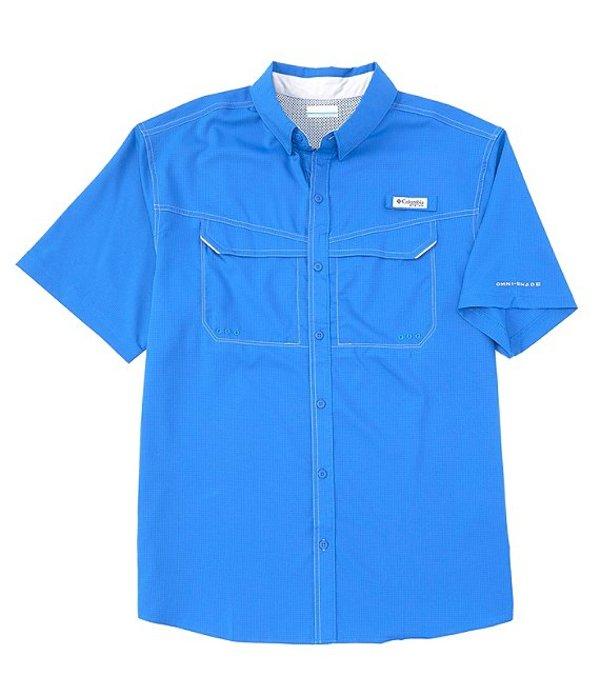 コロンビア メンズ シャツ トップス PFG Low Drag Offshore Short-Sleeve Woven Shirt White Cap