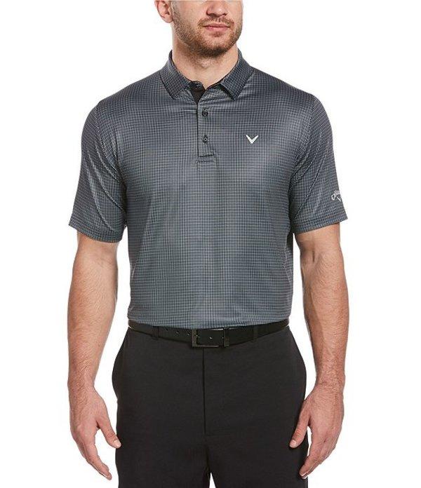 キャラウェイ メンズ シャツ トップス Short-Sleeve Swing Tech Tattershall Golf Polo Shirt Caviar