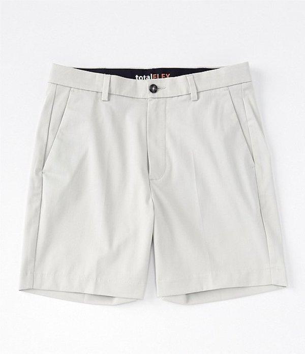 ラウンドトゥリーアンドヨーク メンズ ハーフパンツ・ショーツ ボトムス Big & Tall TotalFLEX 7#double; and 9#double; Inseams Flat Front Shorts Stone