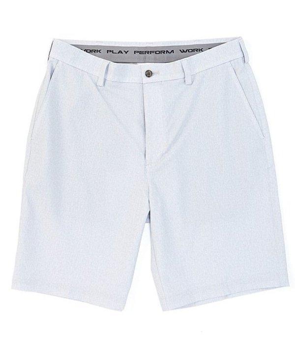 ラウンドトゥリーアンドヨーク メンズ ハーフパンツ・ショーツ ボトムス Big & Tall Flat-Front Heather Print Performance 9#double; and 11#double; Inseams Shorts Medium Grey