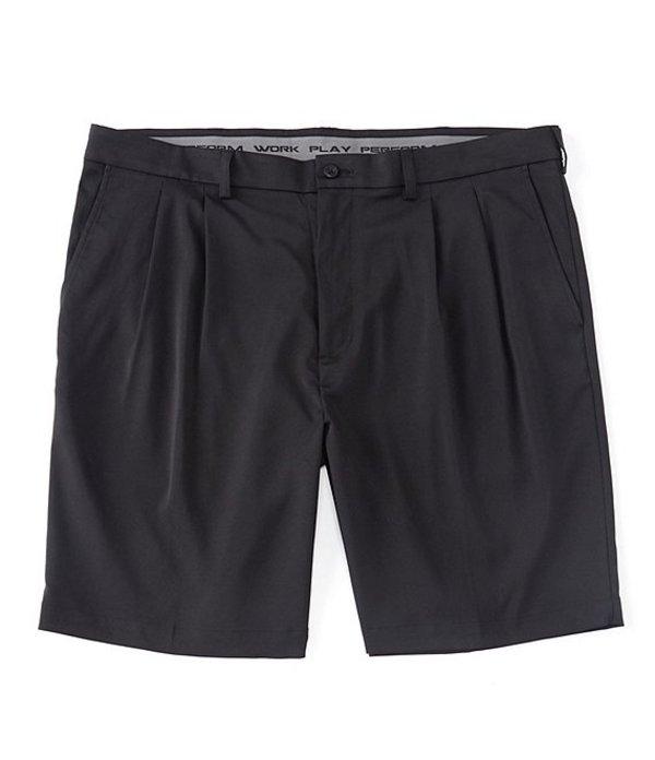 ラウンドトゥリーアンドヨーク メンズ ハーフパンツ・ショーツ ボトムス Big & Tall Performance 9#double; and 11#double; Inseams Pleated CoreComfort Shorts Black