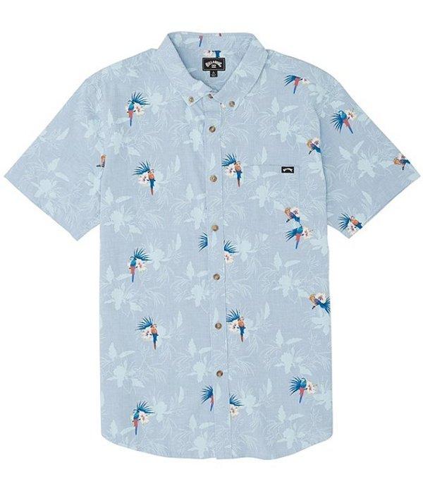 ビラボン メンズ シャツ トップス Sundays Mini Short-Sleeve Shirt Blue