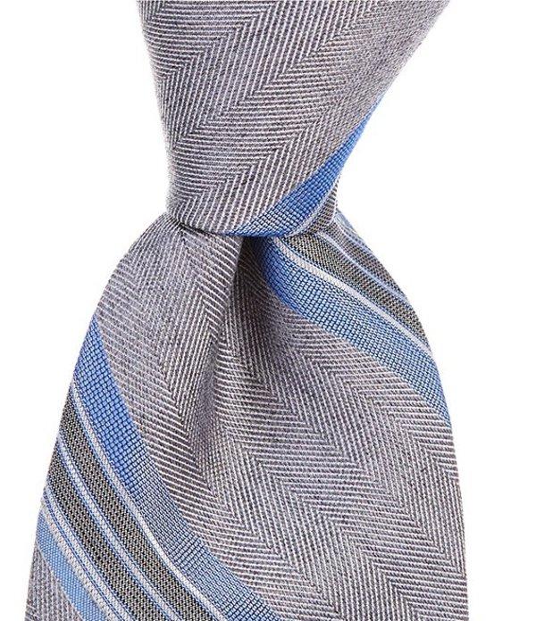 ムラノ メンズ ネクタイ アクセサリー Big & Tall Hester Stripe Traditional 3 1/8#double; Tie Blue