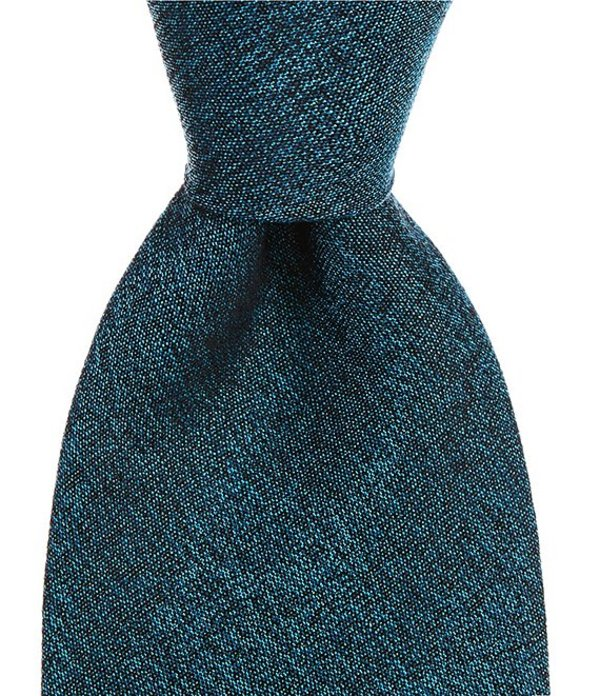 ムラノ メンズ ネクタイ アクセサリー Big & Tall Beldans Solid Traditional 3 1/8#double; Silk Tie Aqua