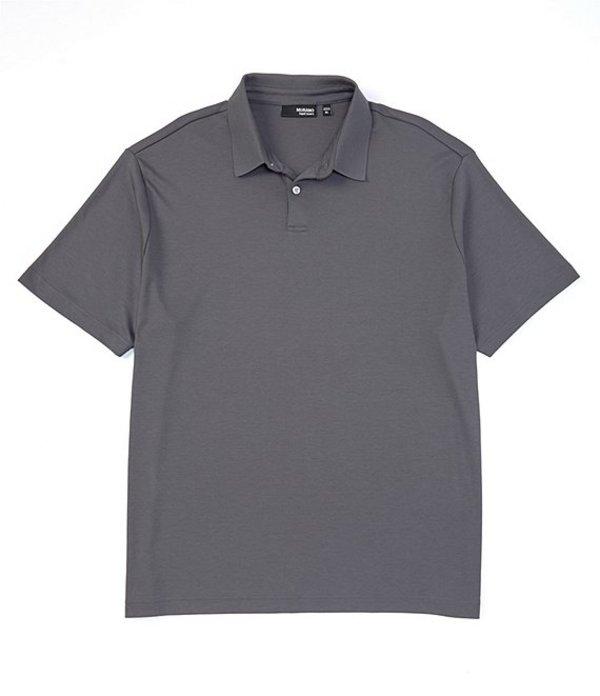 ムラノ メンズ シャツ トップス Liquid Luxury Perfect Short-Sleeve Polo Shirt Grey