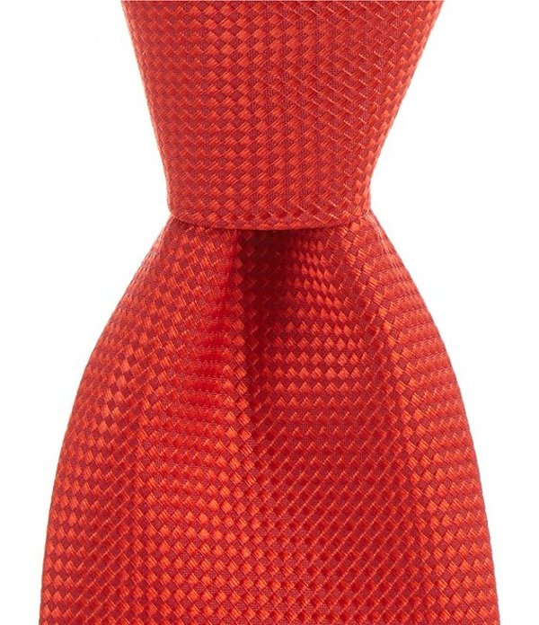 ラウンドトゥリーアンドヨーク メンズ ネクタイ アクセサリー Big & Tall Demi Solid Non-Solid Traditional 3 3/8#double; Silk Tie Red