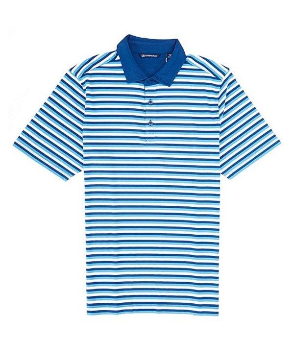 カッターアンドバック メンズ シャツ トップス Forge Multi Stripe CB DryTec Short-Sleeve Polo Chambers