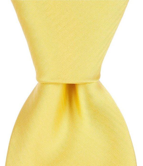 ムラノ メンズ ネクタイ アクセサリー Narrow 3#double; Silk Tie Yellow