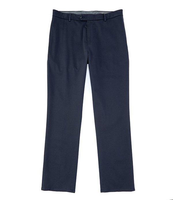 ダニエル クレミュ メンズ カジュアルパンツ ボトムス Daniel Cremieux Signature Non-Iron Flat-Front Stretch Chino Pants Navy