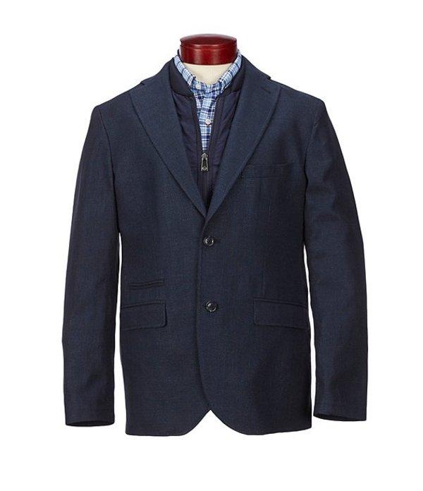 ハート シャフナー マルクス メンズ ジャケット・ブルゾン アウター Zip Out Bib Blazer Blue