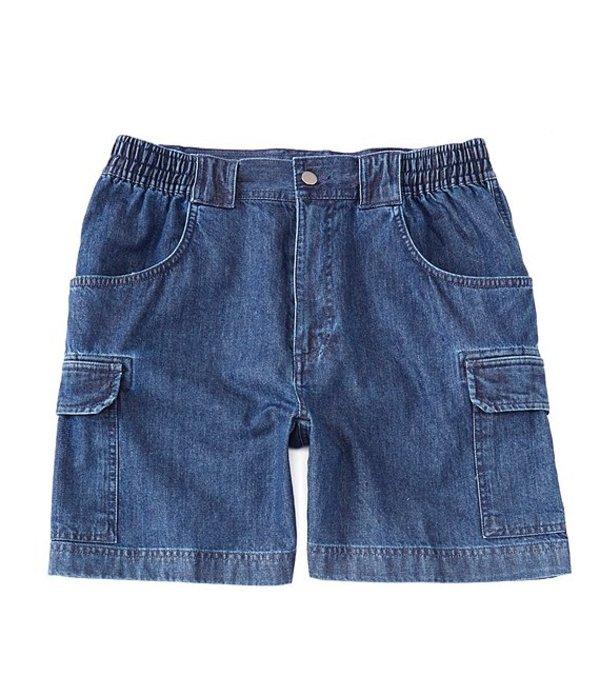 ラウンドトゥリーアンドヨーク メンズ ハーフパンツ・ショーツ ボトムス 7#double; Hiker Denim Cargo Shorts Denim