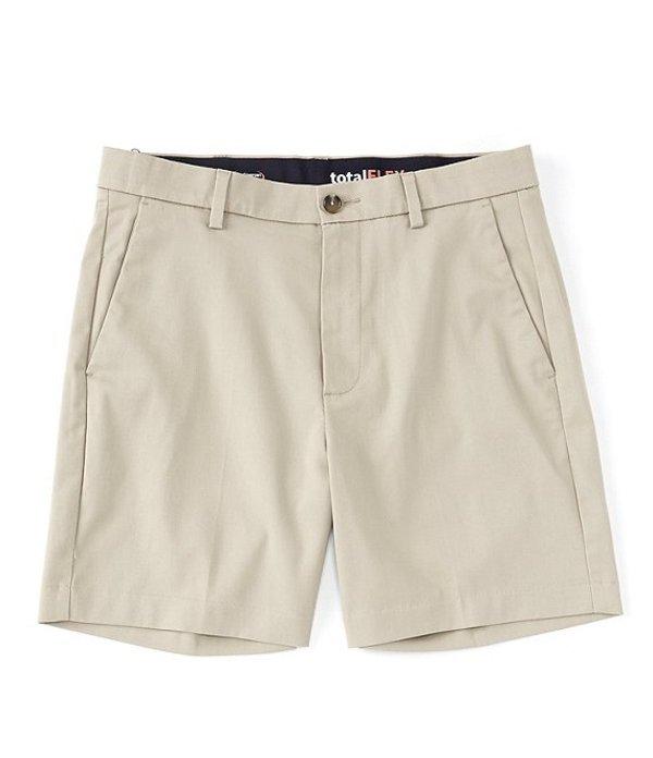 ラウンドトゥリーアンドヨーク メンズ ハーフパンツ・ショーツ ボトムス TotalFLEX 7#double; Flat Front Shorts Khaki