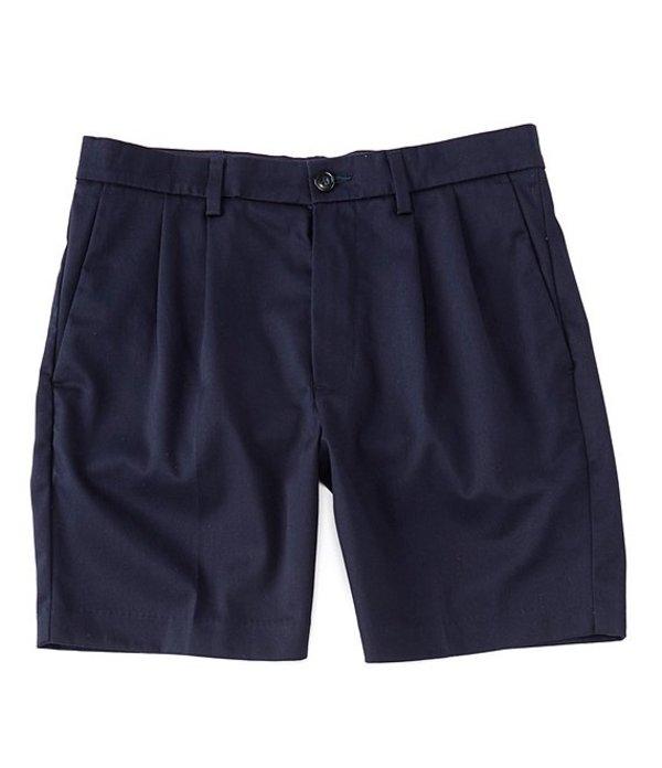 ラウンドトゥリーアンドヨーク メンズ ハーフパンツ・ショーツ ボトムス totalFLEX Pleated 7#double; Inseam Shorts Navy