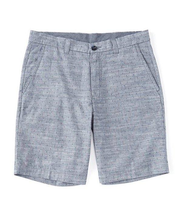 ラウンドトゥリーアンドヨーク メンズ ハーフパンツ・ショーツ ボトムス Flat Front Clip Dobby 9#double; Inseam Shorts Blue