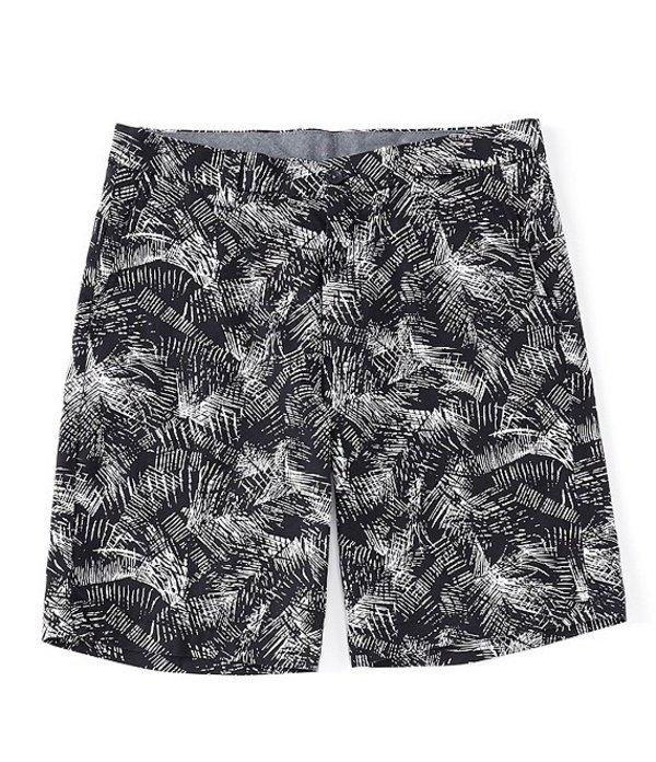 ラウンドトゥリーアンドヨーク メンズ ハーフパンツ・ショーツ ボトムス Flat Front Palm Leaf Print 9#double; Inseam Shorts Blue