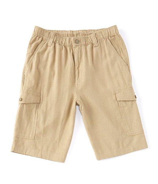 ラウンドトゥリーアンドヨーク メンズ ハーフパンツ・ショーツ ボトムス Linen Blend 11#double; Inseam Cargo Shorts Khaki
