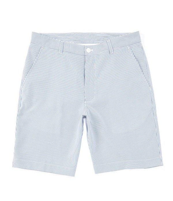 ラウンドトゥリーアンドヨーク メンズ ハーフパンツ・ショーツ ボトムス Performance Yarn-Dye 9#double; Inseam Seersucker Shorts Blue
