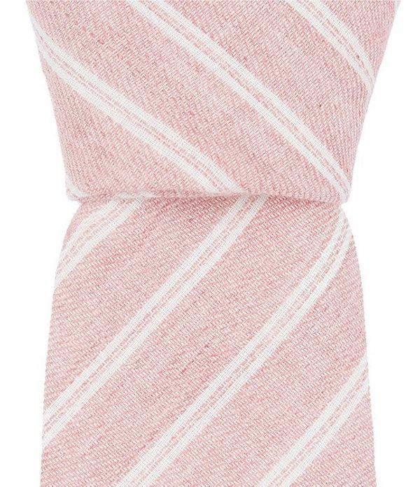 オリジナルペンギン メンズ ネクタイ アクセサリー Bridges Stripe Skinny 2 1/4#double; Cotton Tie Pink