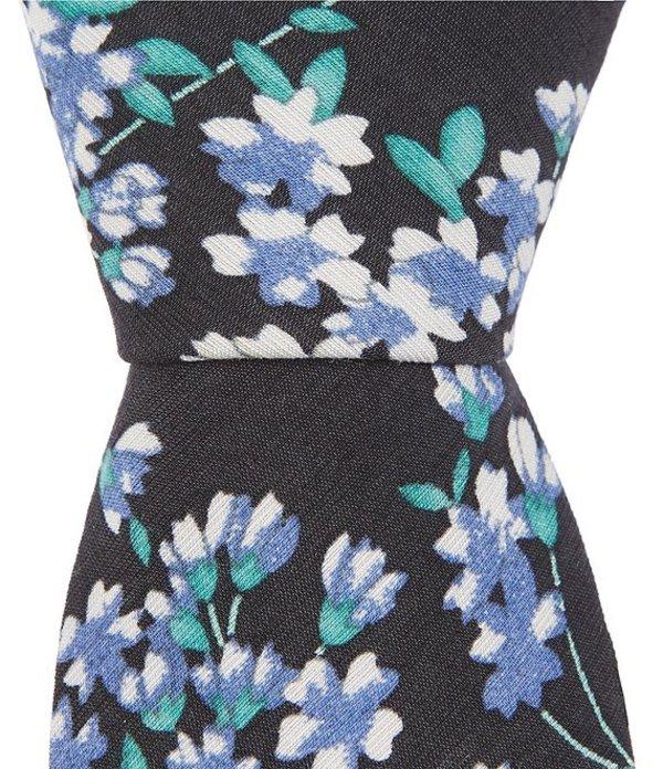 オリジナルペンギン メンズ ネクタイ アクセサリー Hogan Floral Skinny 2 1/4#double; Tie Black