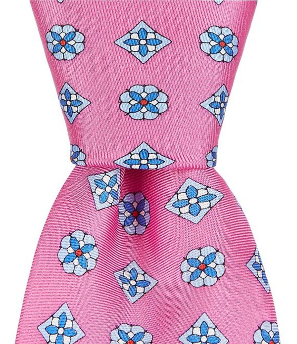 ラウンドトゥリーアンドヨーク メンズ ネクタイ アクセサリー Trademark Creek Motif Print Narrow 3 1/8#double; Silk Tie Pink