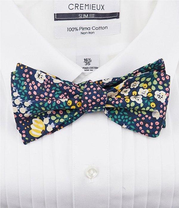 ダニエル クレミュ メンズ ネクタイ アクセサリー Frites Floral Silk Bow Tie Navy