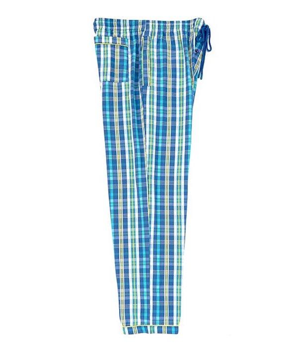 サイコバニー メンズ ハーフパンツ・ショーツ ボトムス All-Over Print Woven Pajama Pants Prussian Small Plaid