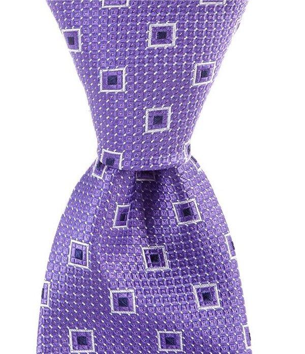 ラウンドトゥリーアンドヨーク メンズ ネクタイ アクセサリー Maramar Neat Traditional 3 1/4#double; Silk Tie Purple