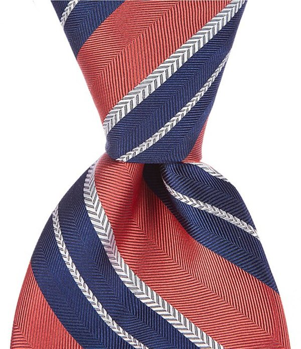 ダニエル クレミュ メンズ ネクタイ アクセサリー Buckley Stripe Traditional 3 1/4#double; Silk Tie Red