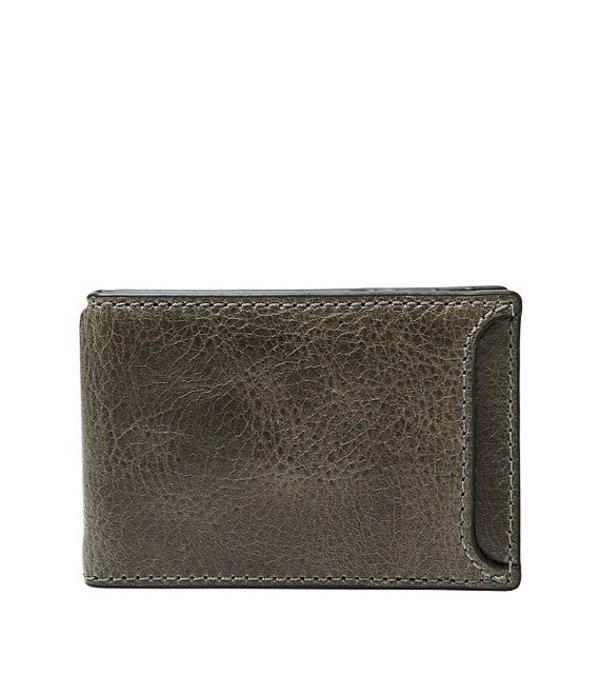 フォッシル メンズ 財布 アクセサリー Morris Money Clip Leather Bifold Wallet Cement