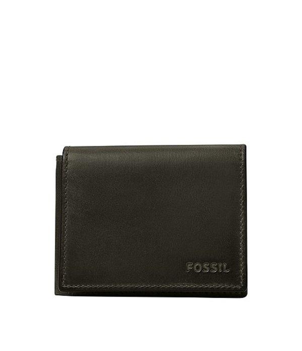 フォッシル メンズ 財布 アクセサリー Derrick Execufold Leather Wallet Cement